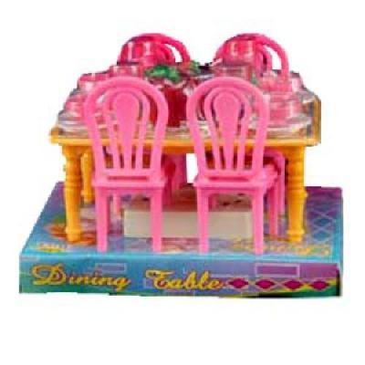 Столовая стол, 4 стула, в слюде