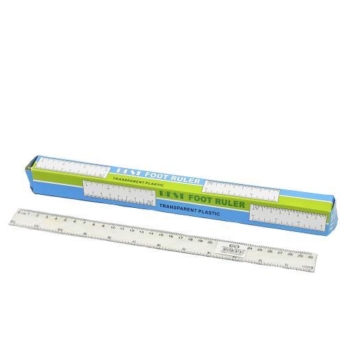 Линейка, прозрачная, 30 см (цена за штуку), SAT-2434130