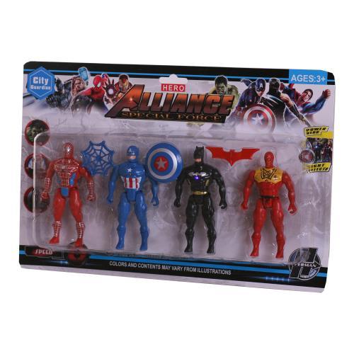 Набор супергероев светящихся, 283-54B