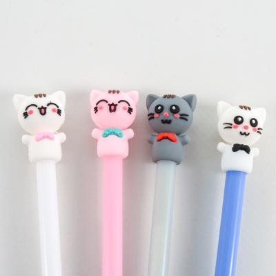 Ручка, синяя, тонкая паста, Котята, HMZ-6013