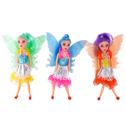 Кукла маленькая 4 вида,с крылышками,в пакете, 7T-2028A