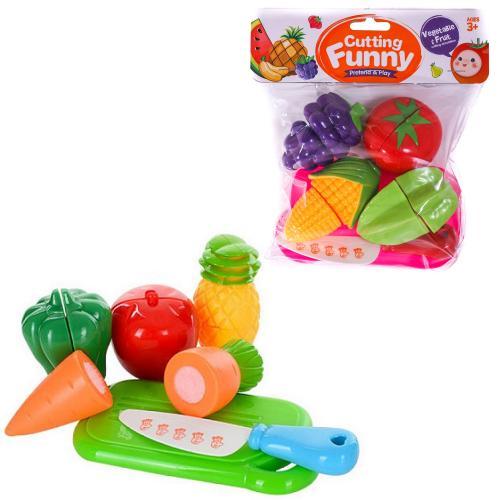 Овощи и фрукты 2 виды,дел.пополам,досточка,нож, 7T-6105-6106