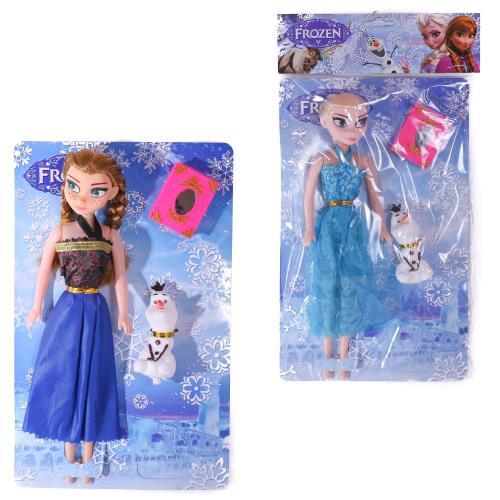 Кукла 2 вида,со снеговиком,книжкой в пакете, 7T-3219B