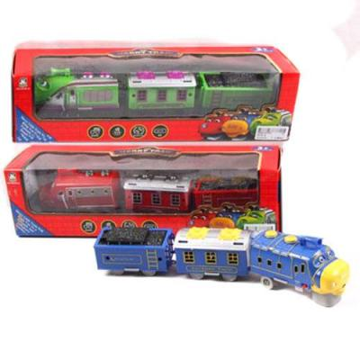 Поезд, на бат., 3 цвета, в кор-ке