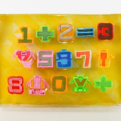Трансформер 168-102A (48шт) цифры, знаки, фигурки, 168-102A