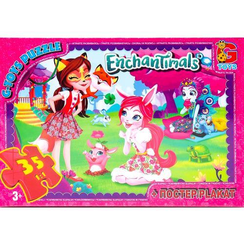 """Пазли ТМ """"G-Toys"""" из серии """"Enchantimals"""", 35 ел., GP-EA206"""