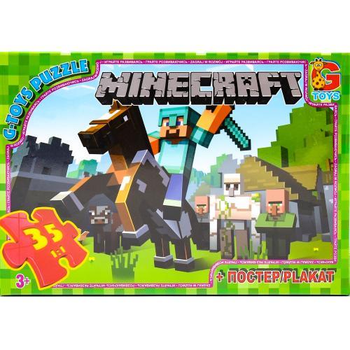 """Пазли ТМ """"G-Toys"""" із серії """"Minecraft"""" (Майнкрафт, GP-MC773"""