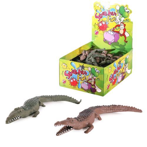 Животное A107-DB (200шт) крокодил, 16см, 100шт(цве, A107-DB