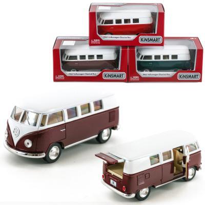 Автобус KT 5060 W (24шт) металл,инер-я,1:32,13см,о