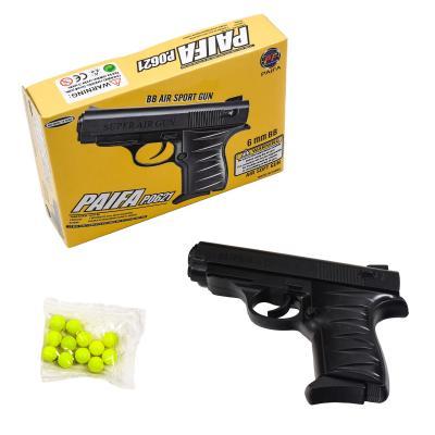 Пистолет 0621 (180шт) на пульках, 15см, в кор-ке
