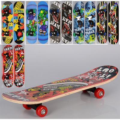 Скейт MS 0323-3 (12шт) 60-15см,пласт. подвеска,коле