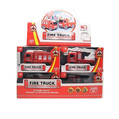 Пожарная машина инер-я, 11см,подвижн. детали,кор,12, BY908-1C