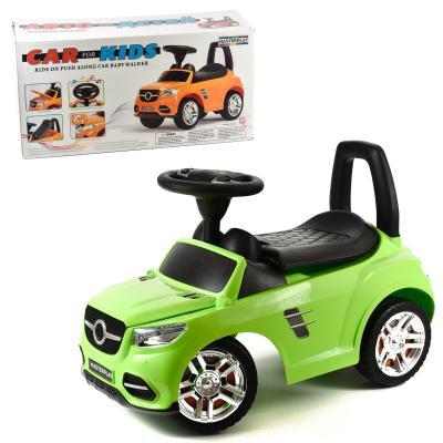 Машина-каталка MB, цвет: салатовый, с электроникой