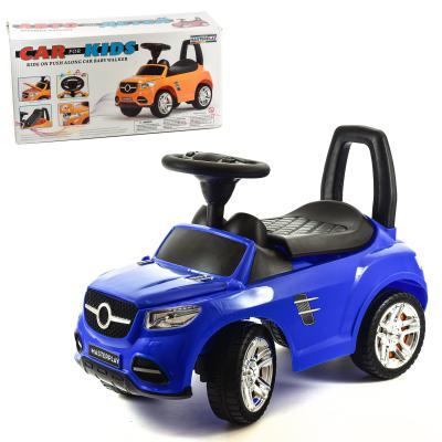 Машина-каталка с электроникой ( синяя)