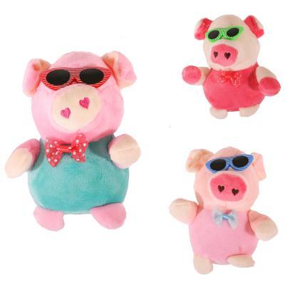 """Мягкая игрушка """"Свинка в очках"""""""