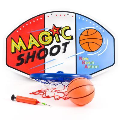 Баскетбольное кольцо щит пластик 59-38см, мяч рез