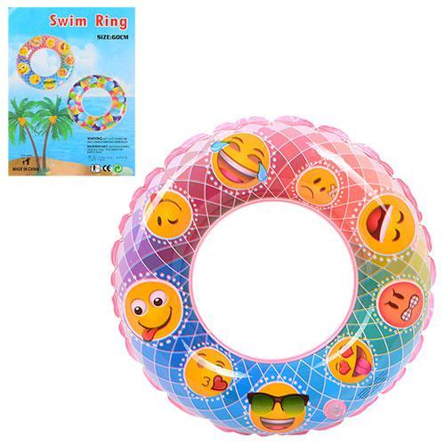 Круг смайлы, 60см, в кульке, 17,5-14-0,5см, D25572