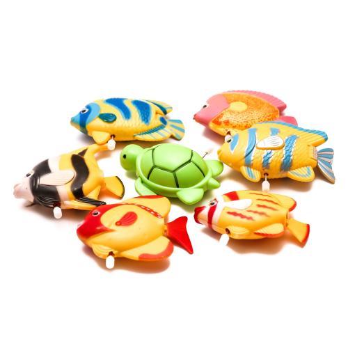 Водоплавающая игрушка заводная,12 видов(рыбки,морс, 6019-20