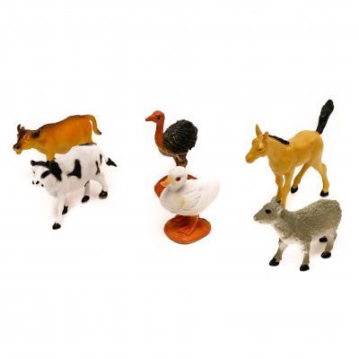 Животные 6шт, от 5,5см, 2вида, в кульке, 17-23-4см