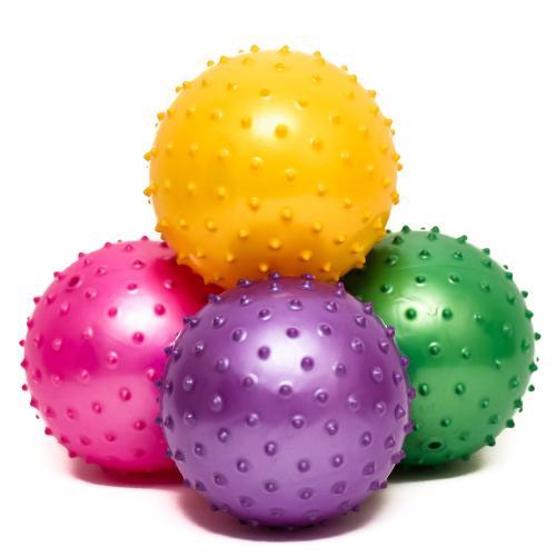 Мяч массажный 6 дюймов, ПВХ, 45г, 6 цветов, MS 0664