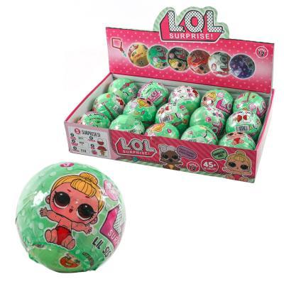 Куколка LL - Lil sisters в шаре, в зеленой упак.