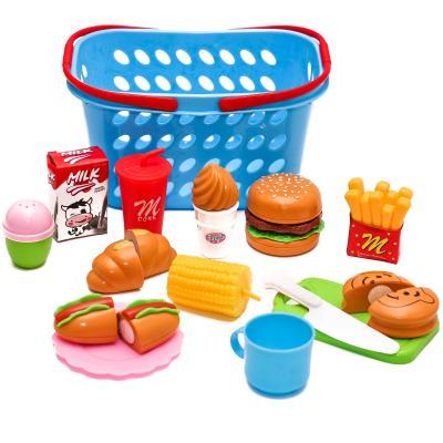 Продукты на липучке, фаст-фуд,посуда, корзинка,в кар