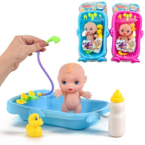 Пупс резиновый для купания в ванночке, 66068