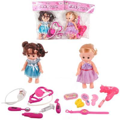 Кукла с набором доктора в кульке, K0002