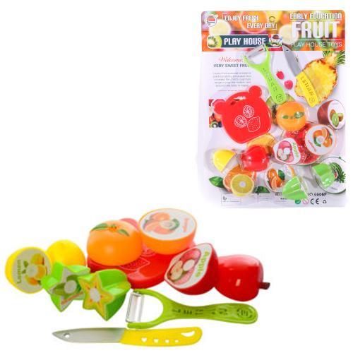 Продукты 6606F (96шт) на липучке, фрукты, 4предм, 6606F