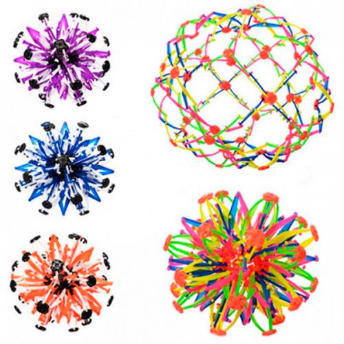 Мяч YZ1367 (120шт) трансформер, 4 цвета, в кульке, YZ1367
