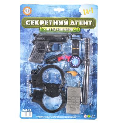 Набор полиции Х 44-6 D (144шт) пистолет, присоски2
