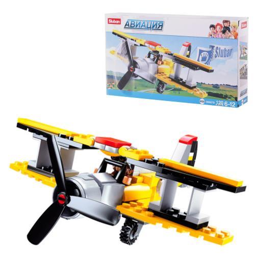 Конструктор SLUBAN M38-B0667B (72шт) самолет, фигу, M38-B0667B