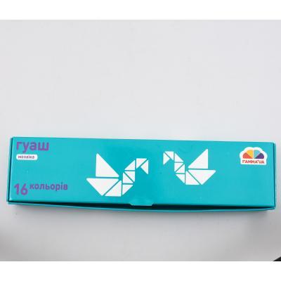 Краски гуашевые 16 кол/10 мл, Мозайка, GA-300203