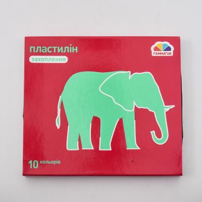 Пластилин, 10 цветов (цена за упаковку), GA-200303