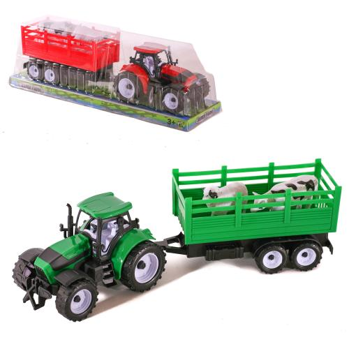 Трактор 9978-1-2-4 (48шт) инер-й, 39см, с прицепом, 9978-1-2-4