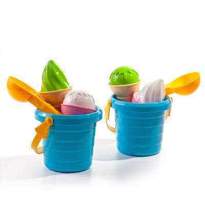 Песочный набор ведро+пасочки мороженое, Техно 5736