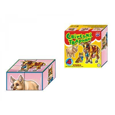Кубики домашние животные