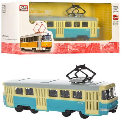 Трамвай металлический, инерционный