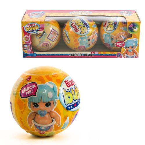 "Куколка ""Bizzy bubs"" в желтой кор-ке,3 шара, 25602"