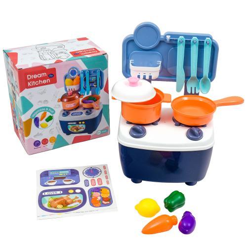 Кухня музыкальная с набором посуды, 771-7