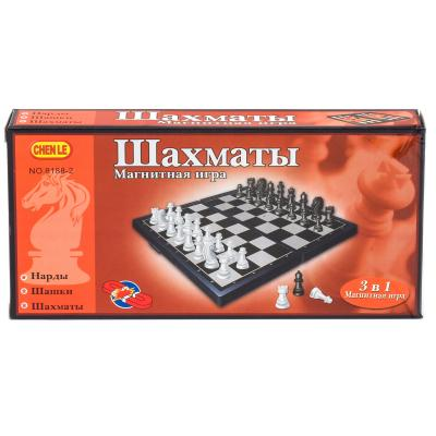 Игра настольная шахматы 3в1