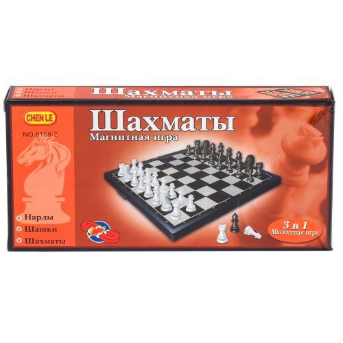Игра настольная шахматы 3в1, 8188-2