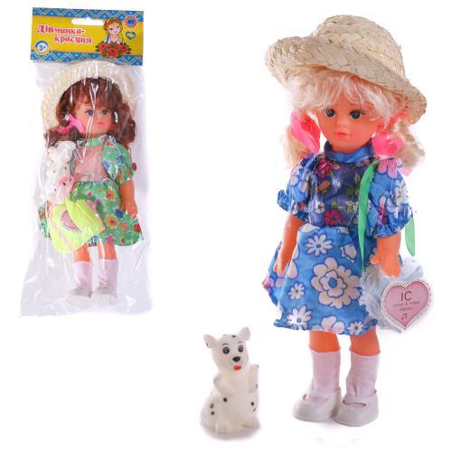 HU Кукла 915 VIC2 (216шт) Людочка, 23см, 5 видов, 915 VIC2