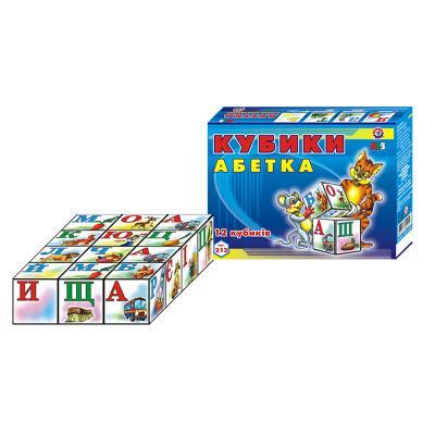 """Кубики """"Азбука украинская"""", Техно 0212"""
