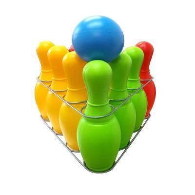 Детская игра кегли : девять кеглей, шар