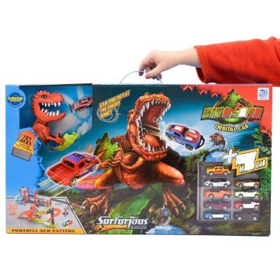 Трек 8899-94 (8шт) машинки, динозавр-звук(англ),на