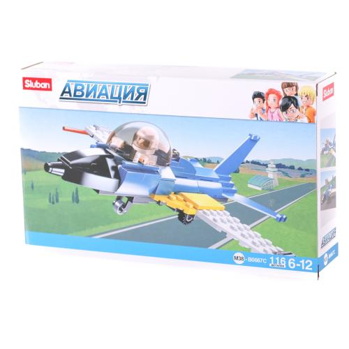 Конструктор SLUBAN M38-B0667C (72шт) самолет, фигу, M38-B0667C