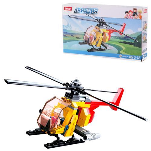 Конструктор SLUBAN M38-B0667A (72шт) вертолет, фиг, M38-B0667A