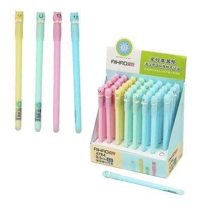 Ручка AIHAO, пишет-стирает, масляная, синяя (цена за штуку)