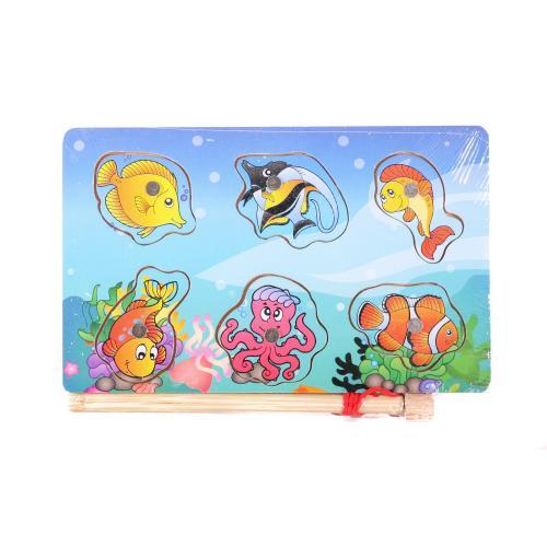 Деревянная игрушка Рыбалка MD 1149 (150шт) рамка-в, MD 1149